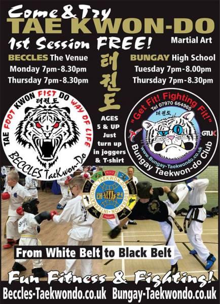 Beccles Taekwondo Students