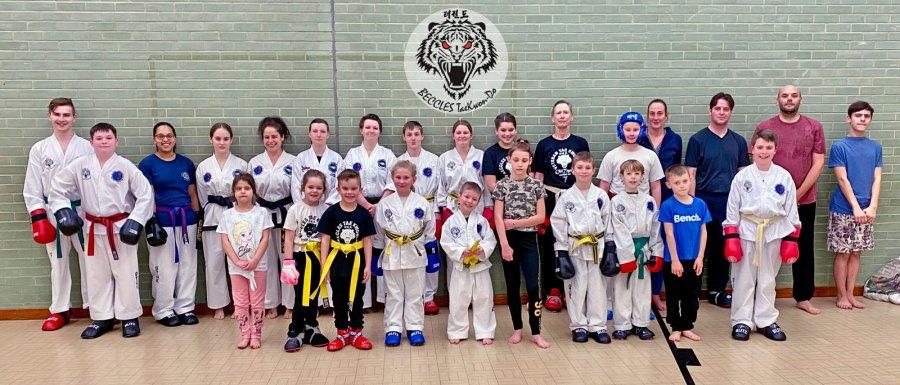 Beccles Taekwondo session