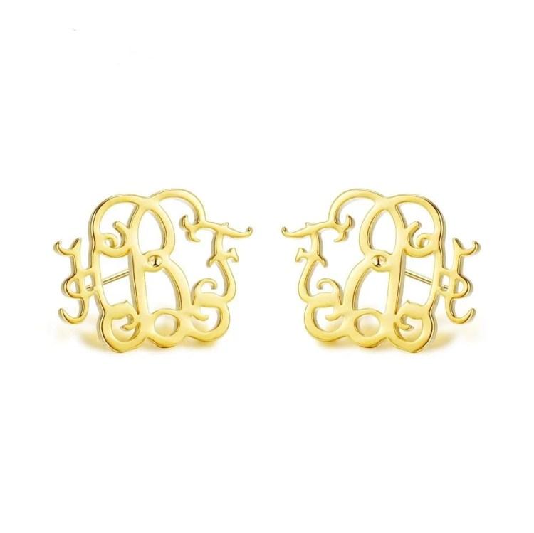 Gold Custom Name Earring For Classy Women Stylish Earring For Regular Outfits
