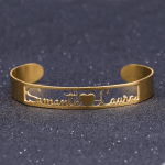 Personalized Two Name Heart Bangle For Women Gold Name Bangle Cute Bangle