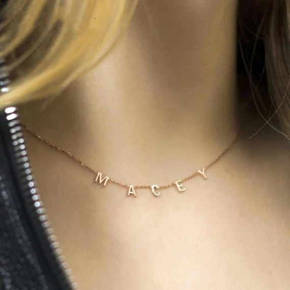 choker name necklace