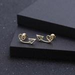 Arrow Head Custom Letter Earrings Thin Border Earrings Stud Letter Earrings For Women