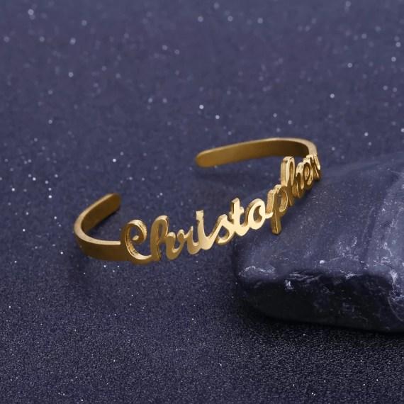 Best Quality Custom Name Bracelet For Women Ladies Regular Wear Jewelry My Name Bracelet Gold Silver Rose Gold Bracelet