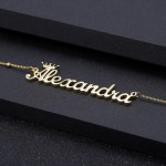Crown Name Single Custom Name Necklace For Women's Jewelry