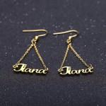 Dangle Custom Name Earrings For Women Custom Nameplate Earring Best Quality