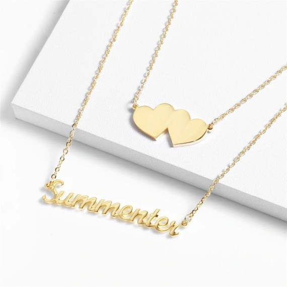 Gold Silver Rose Gold Personalized Custom Single Name Necklace For Women