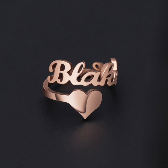My Name Ring Best Quality Custom Name Ring My Personalized Jewelry