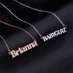 Shine Custom Nameplate Necklace For Women Love Name Necklace Gold Silver Rose Gold
