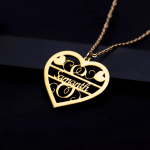Single Heart Custom Name Necklace For Women Fashionable Jewelry For Women