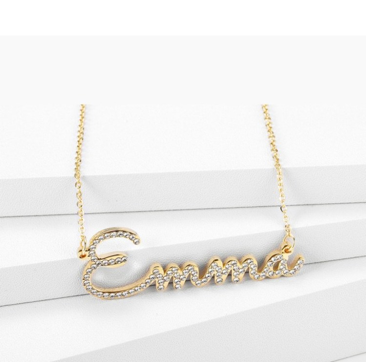 Big First Letter Name Necklace Beceff's Name Necklace