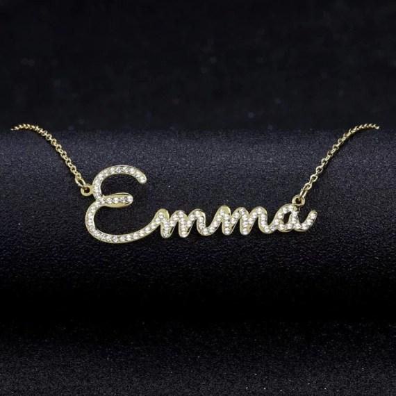Emma Custom Any Single Name Necklace Beceff High Quality Jewelry