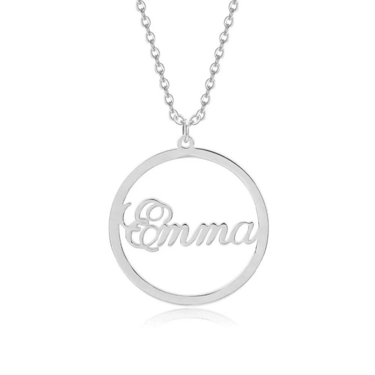 Emma Name Necklace For Off-Shoulder Tops Casual Wear Jewelry