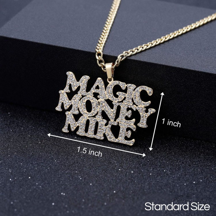multiline name necklace with up to 3 custom personalized texts