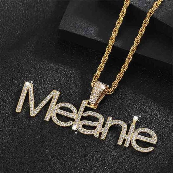 personalized customized iced out crystal bling shine sparkling big bail jewelry for custom jewelry lovers