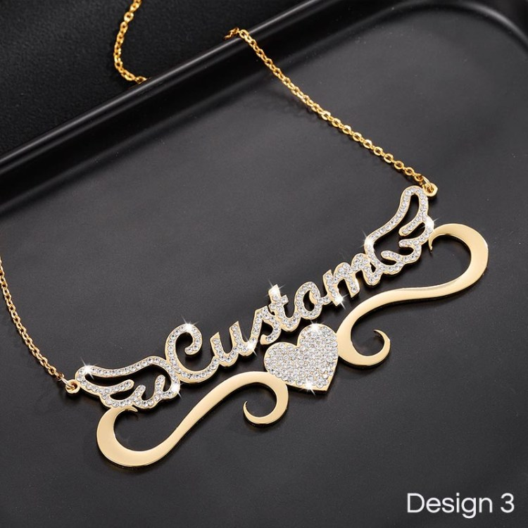 angel wings symbolize protection purity courage love harmony with this custom name necklace