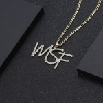 hip hop personalized jewelry custom crystal initials diamond iced out name necklace chain cuban