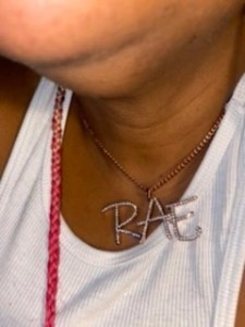 Sparkling Crystal Initials Necklace photo review