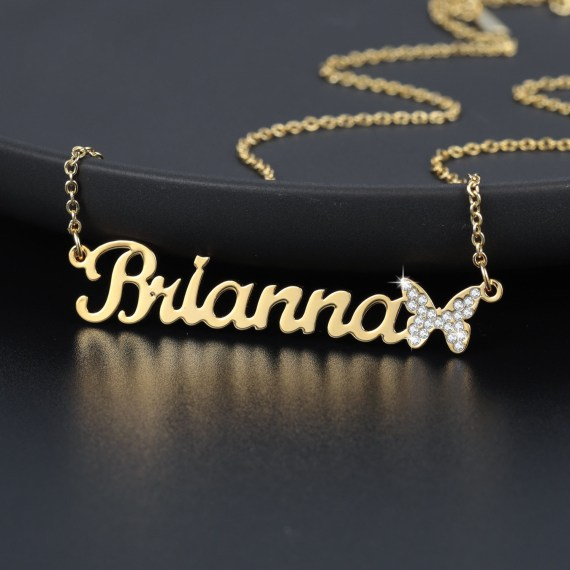 Butterfly jewelry pendant gold personalized gift