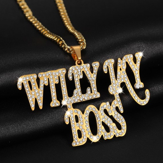 Personalized zirconia double name necklace custom iced out nameplate necklace cuba chain men hiphop pendants jewelry