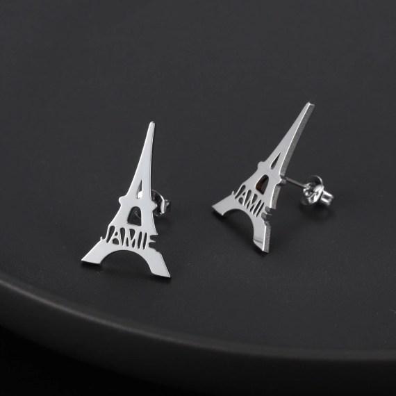 Stud personalized women earring eiffel earring custom jewelry