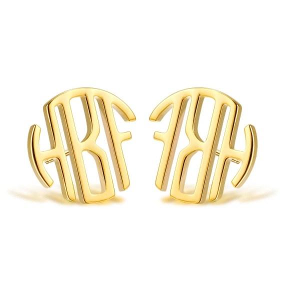 Custom monogrammed earrings sainless steel gold name choker for women DIY personalized jewelry love
