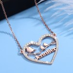 Personalized High Quality Custom Name Necklace Customized Bling Heart Name Necklace Birds Branch Custom Name Necklace Crafted Name Necklace For Women