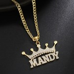 mandy crown name necklace with personalized custom name hip hop crystal necklace customized jewelry