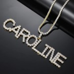 personalized custom name crystal letters name necklace for women birthday tennis chain jewelry