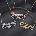 sand blasting frosted custom personalised bottom heart name necklace for women jewelry
