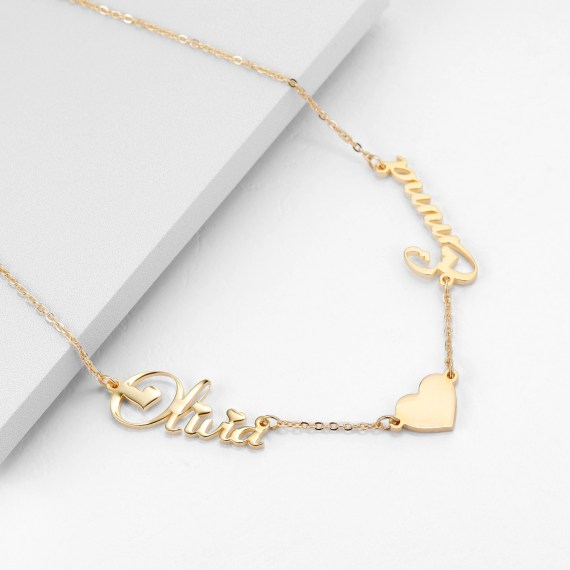 personalized couple name shine jewelry anniversary gift item for women