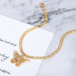 calm anklet design with butterfly