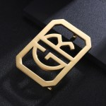 monogram style 2 initials letters custom belt buckle design for fathers day