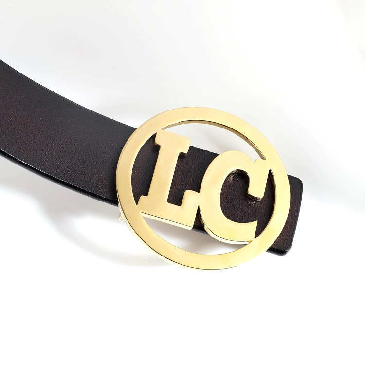 personalized custom belt buckle design for men and women in circle 2 letters characters logo