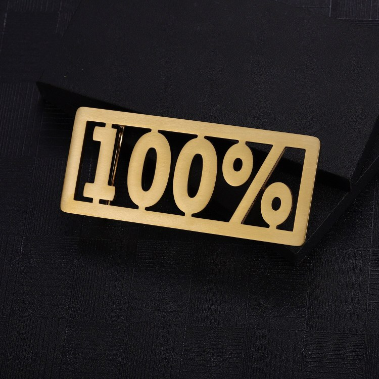 personalized percentage number text custom belt buckle