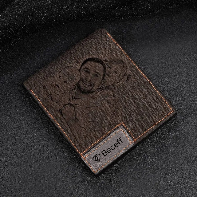 custom fashion personalized picture wallet for men leather