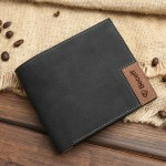custom picture leather fabric wallet for husbands birthday