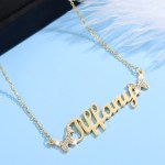 customizable butterfly name necklace with custom name