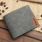 gray color custom picture engraved beceff wallet design