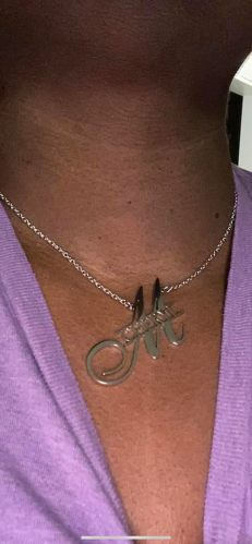 Big Initial Name Necklace photo review