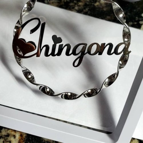 twisted hoop earrings with custom name personalized unique hoop earrings