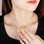 Crystal Heart Custom Name Necklace Personalized Jewelry Love Heart Name Necklace Casual Jewelry For Regular Use High Quality Necklace Link Chain Necklace