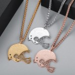Gold Silver Rose Gold Custom Name Necklace Crafted Americal Football Player Name Number Pendant Necklace For Sporty Men Best Quality Jewelry