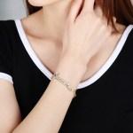 High Quality Custom Made Name Bracelet For Bling Jewelry Lovers Custom Name Bracelet For Women Sparkling Crystal Bracelet Gold Jewelry