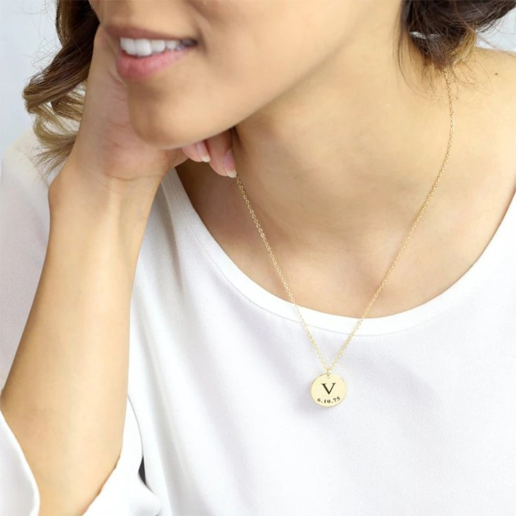 Personalized Custom Initials Necklace For Women High Quality Color Plated Stainless Steel Pendant Necklace With Letters Simple Jewelry For Casual Use