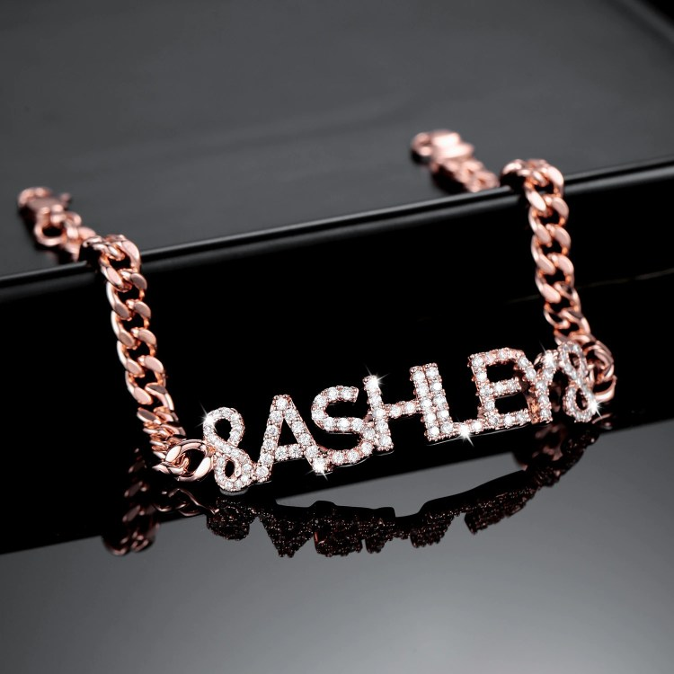 Rose Gold Plated Custom Made High Quality Personalized Wrist Jewelry Wear For Women Best Quality Beceff Jewelry For Classy Ladies Teenage Girls