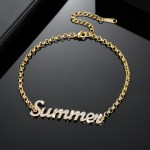 Simple Looking Custom Jewelry For Women 18cm Name Bracelet Premium Quality Casual Jewelry For Personalized Jewelry Lovers