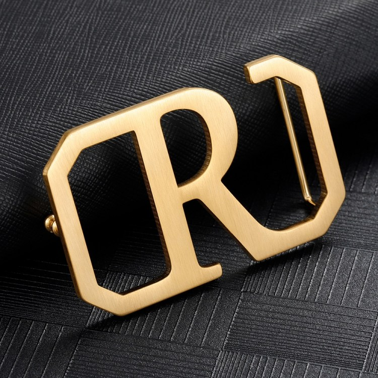 Custom English Initial Letter Belt Buckle For Men High Quality Stainless Steel Personalized Men's Suspenders From Beceff For Crocodile Plain And Lychee Style Belts Leather Accessories