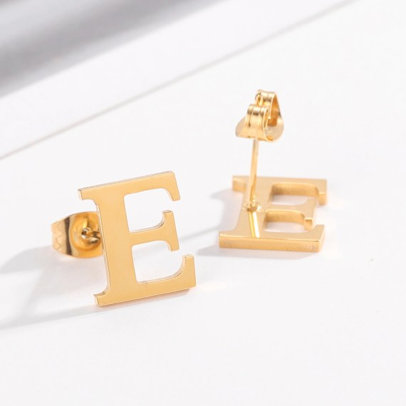 Custom English Letter Earring For Personalized Use Casual Letter Earrings For Teenaged Girls Young Looking Women's Jewelry