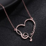 Rose Gold Color Plated Premium Quality Stainless Steel Personalized Jewelry For Women Custom Name Necklace For Ladies Casual Jewelry For Friendly Outings Single Name Necklace