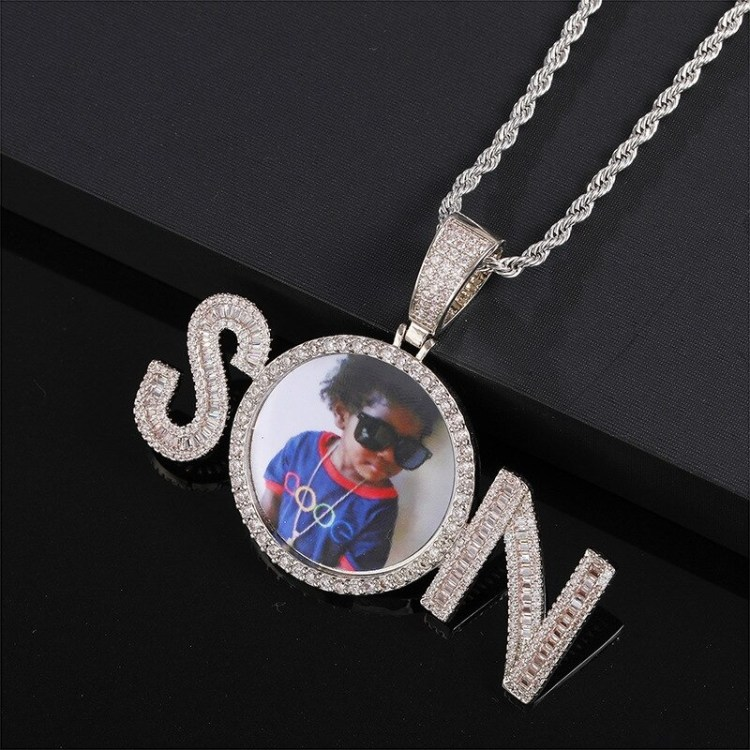 3mm Cuban Chain Rope Chain Tennis Chain Crystal Inlaid Name Necklace Beceff Personalized Jewelry Piece High Quality Custom Photo And Name Necklace Charm